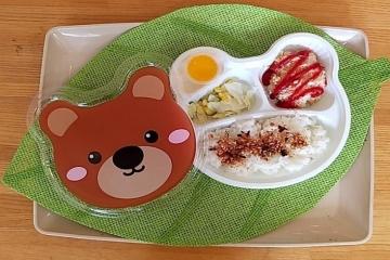 ❢コロナ渦の食育 くまさんのお弁当でピクニック気分♪❢